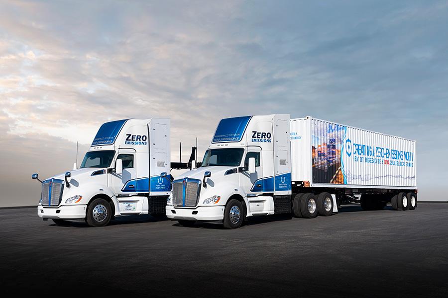 2019年公表 ケンワース「T680」をベースにしたFC大型商用トラック(第一世代FCシステム搭載)