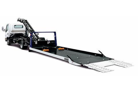 TECS 車両運搬車 ワイドキャブ・超ロングデッキ・フルジャストロー・3.5t積・ディーゼル車・2WD