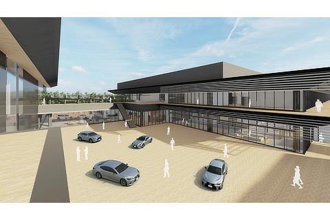 New business and technical center (conceptual image)