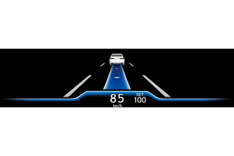 Blue tone (under controlled driving when conditions are right and the driver can release the steering wheel)