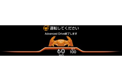 Orange tone (before release of controlled driving when driver operation is required)