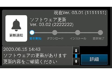 トヨタ チームメイト[アドバンスト ドライブ]ソフトウェアアップデート通知画面
