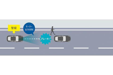 プリクラッシュセーフティ(歩行者[昼夜]・自転車運転者[昼]検知機能付衝突回避支援タイプ・歩行者注意喚起・アクティブ操舵回避支援/ミリ波レーダー+ステレオカメラ方式)低速時加速抑制