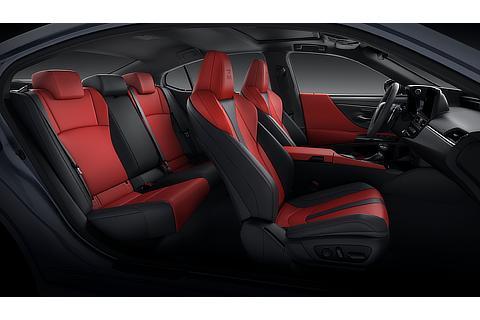 Lexus ES Interior Color Flare Red (Prototype)