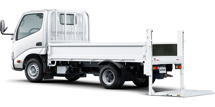 TECS 垂直式パワーゲート車 シングルキャブ・ロングデッキ・ジャストロー・1.45t積・ディーゼル車・2WD・5速マニュアル
