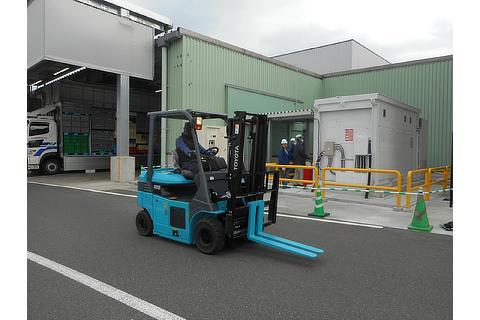 FC Forklift truck at Toyota Motor Kyushu