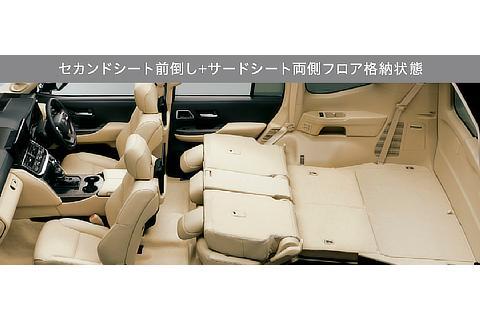 セカンドシート前倒し+サードシート両側フロア格納状態(ZX(ガソリン車))