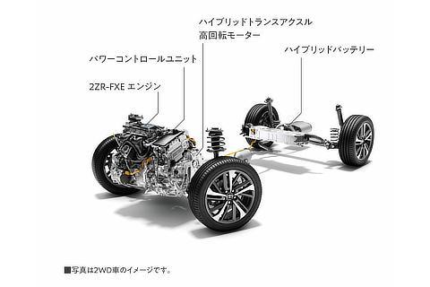 1.8L 2ZR-FXEエンジン+モーター2WD(ハイブリッド車)
