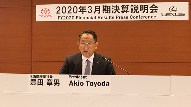 """Become stronger together with our partners throughout the world"" Remarks by President Akio Toyoda at Financial Results for FY2020"