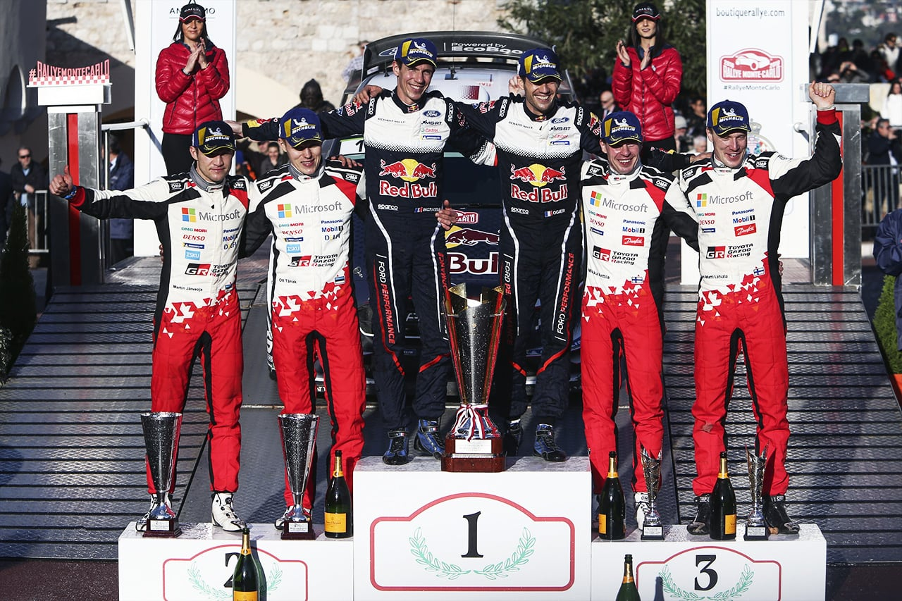 Double Podium for the Toyota Yaris WRC in Monte Carlo
