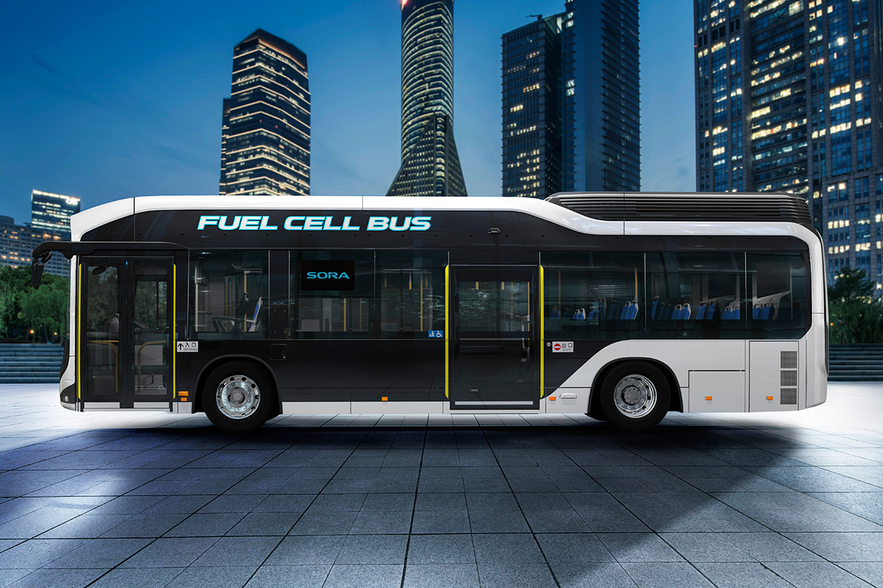 "Toyota Launches Production Model ""Sora"" FC Bus"