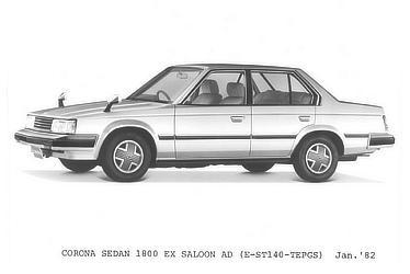 CORONA SEDAN 1800 EX SALOON AD (E-ST140-TEPGS)