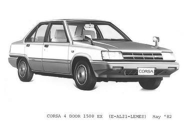 CORSA 4 DOOR 1500 EX (E-AL21-LEMES)