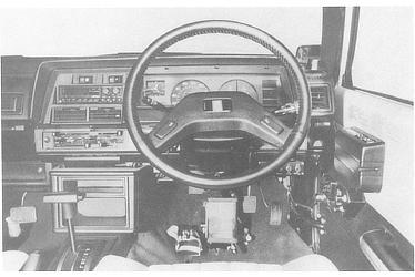 "DRIVER'S AREA IN ""COROLLA FRIENDMATIC II"""