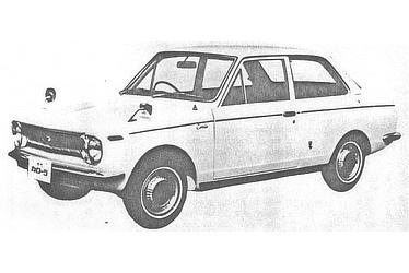 FIRST-GENERATION MODEL 2D SEDAN 1100 DELUXE (KE10-D)