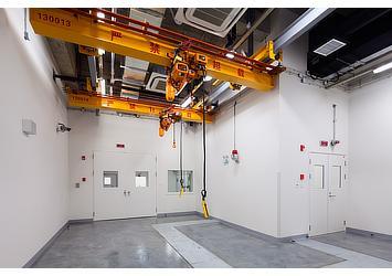 Transmission/engine testing room