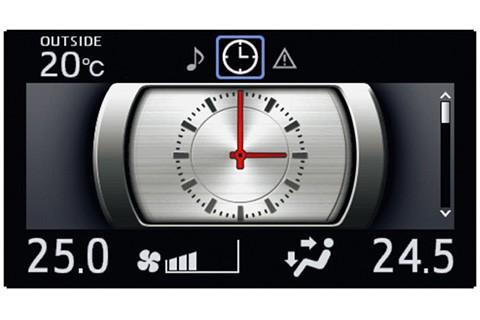 マルチインフォメーションディスプレイ (4.2インチTFTカラー) 表示例 (アナログ時計(1))