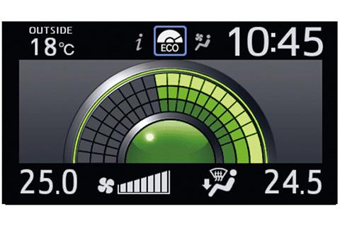 マルチインフォメーションディスプレイ (4.2インチTFTカラー) 表示例 エコドライブインジケーター〈ガソリン車〉