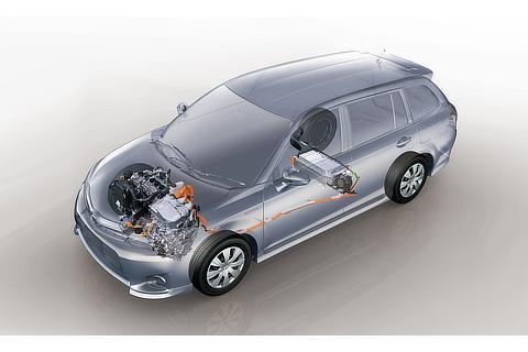 透視図 (1.5L 1NZ-FXE VVT-i エンジン/ハイブリッドバッテリー/昇圧コンバーター付パワーコントロールユニット)