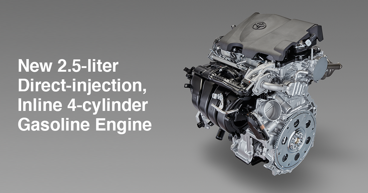new 2.5-liter direct-injection, inline 4-cylinder gasoline engine | toyota  motor corporation official global website  global.toyota