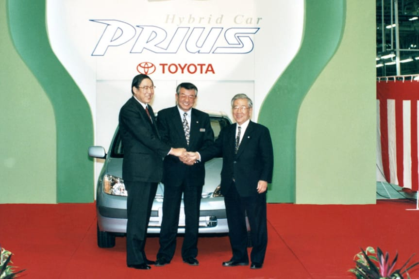 Line-off ceremony for first-generation Toyota Prius