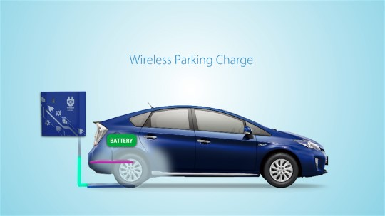 Toyota Wireless Parking Charge demonstration video
